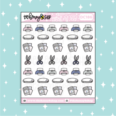 THE HONEY B SHOP | Stationery CEO Icon Sampler Doodle Planner Sticker