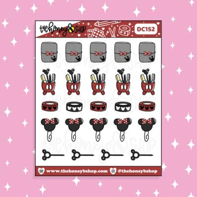 THE HONEY B SHOP | Mousey Planner Supplies Doodle Sticker