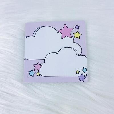 The Honey B Shop   Colorful Clouds Sticky Note   3x3 + 25 Sheets