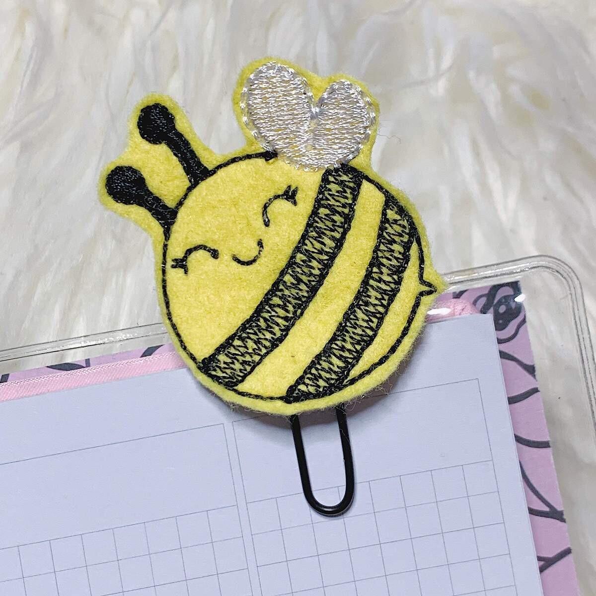 The Honey B Shop | Bumble Bee Feltie Planner Clip