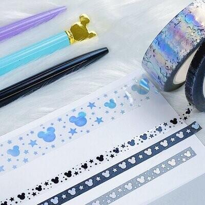 The Honey  B shop   Tattoo Sidekicks Perforated Header Washi Bundle   (3) 5MM Tapes