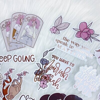 TheHoneyBShop | June Babe Box Extra | Grace Clear Sticker Die Cut Pack