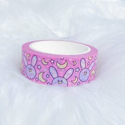 TheHoneyBShop | Fight Like a Girl | Moon Prism Bunnies Washi Tape | 15 MM