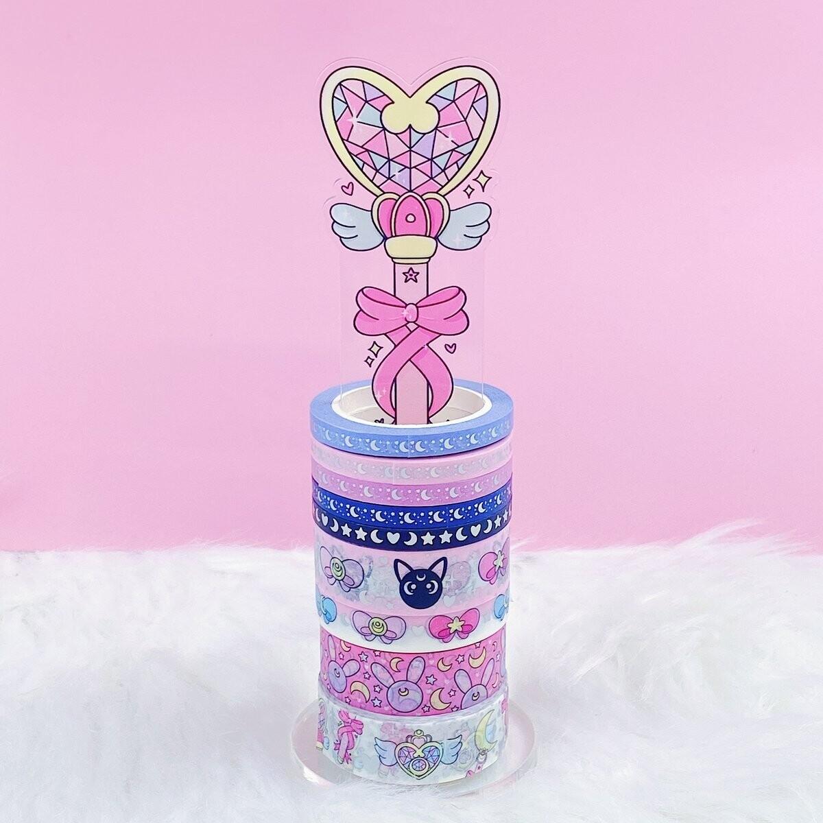 TheHoneyBShop | Fight Like a Girl |Magical Wand Acrylic Washi Stand