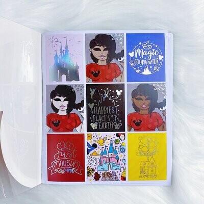THE HONEY B SHOP | Tattoo Sidekicks Sticker Book | 10 Pages | Holo Foiled