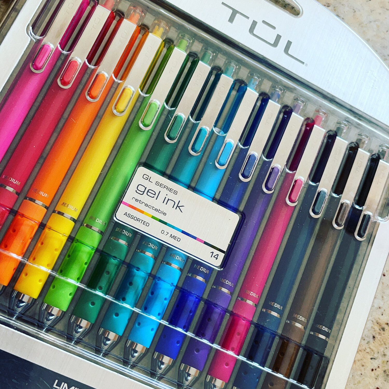 TUL  | CANDY |  Retractable gel pens I 14 Pack | 0.7