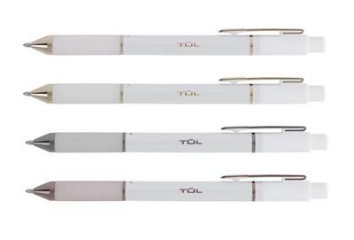 TUL  | Retractable Gel Pens, Medium Point, 0.7 mm, Pearl White Barrel, Black Ink