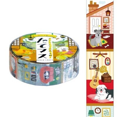 WORLD CRAFT   VERTICAL   WASHI   CATS + DOGS