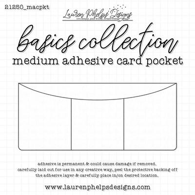 LAUREN PHELPS DESIGNS | MEDIUM CLEAR ADHESIVE 3 CARD POCKET
