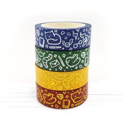 Fox & Cactus     Wizard House Washi Tapes (Foiled)