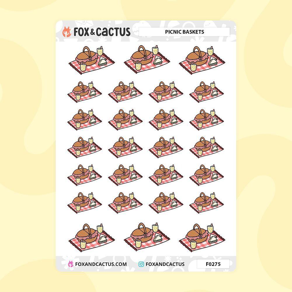 Fox & Cactus   PICNIC BASKET STICKERS