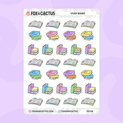 Fox & Cactus   Study Book Stickers (F0138)