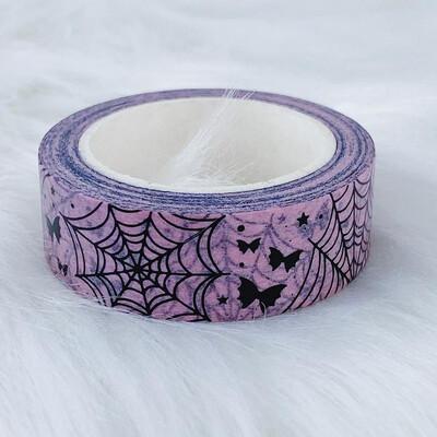 THE HONEY B SHOP | Pastel Pink Spider Webs + Bat Bows 15MM Washi