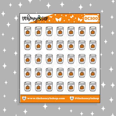 THE HONEY B SHOP |Pumpkin Spice Latte Doodle Sticker