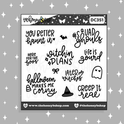 THE HONEY B SHOP |Halloween Quotes Deco Doodle Sticker