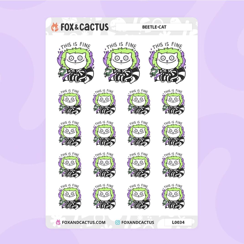 Fox & Cactus | Beetle-Cat Stickers