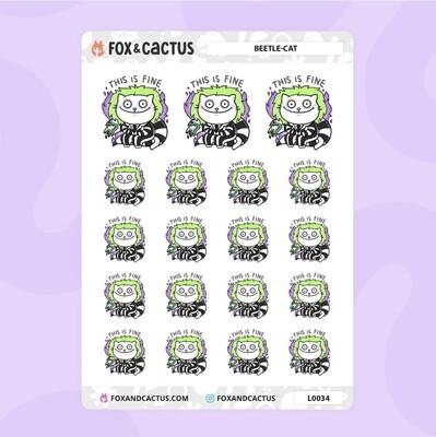 Fox & Cactus   Beetle-Cat Stickers