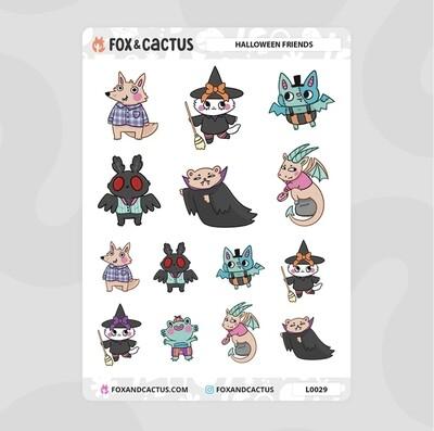 Fox & Cactus   Halloween Friends Stickers