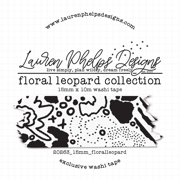 LAUREN PHELPS DESIGNS | FLORAL LEOPARD WASHI