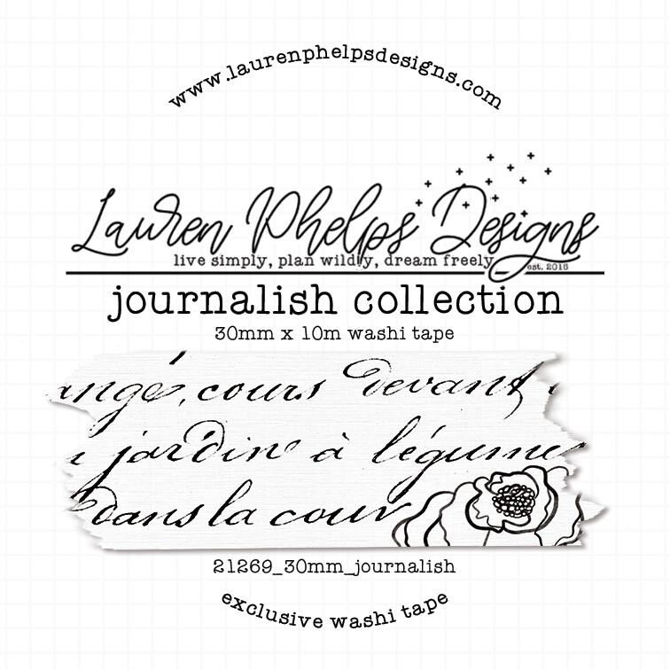 LAUREN PHELPS DESIGNS   JOURNALISH COLLECTION 30MM WASHI