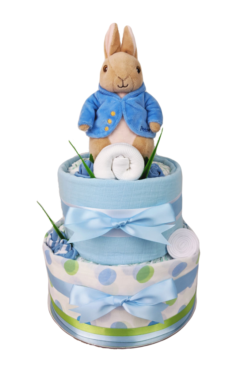 Two Tier Peter Rabbit Nappy Cake