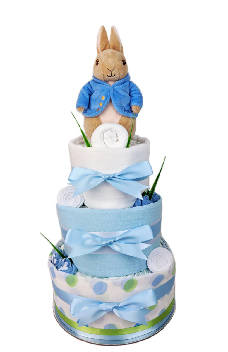 Three Tier Peter Rabbit Nappy Cake