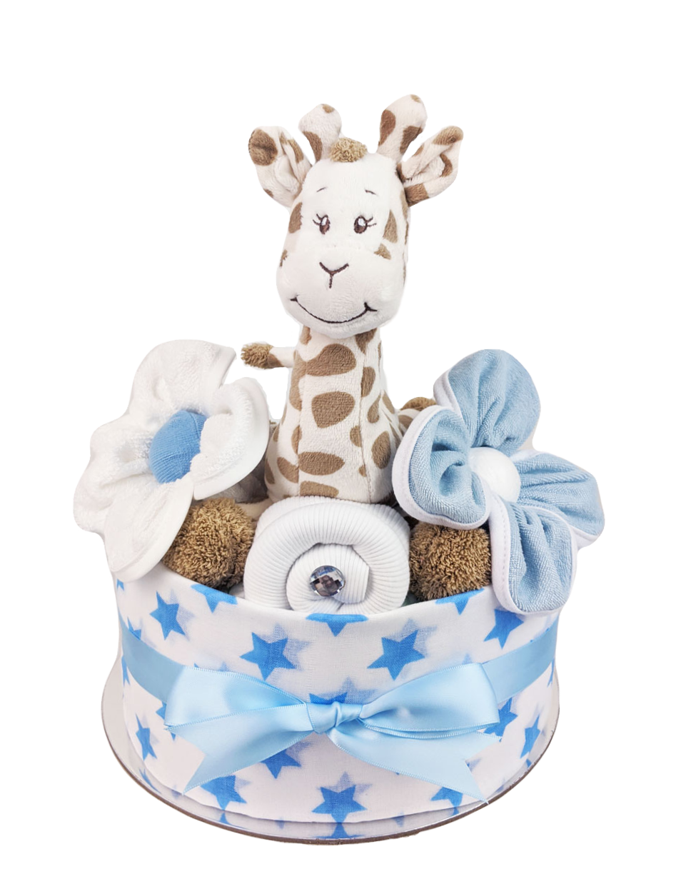 One Tier Jungle Safari Nappy Cake