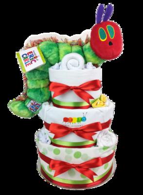 Three Tier Hungry Caterpillar Nappy Cake