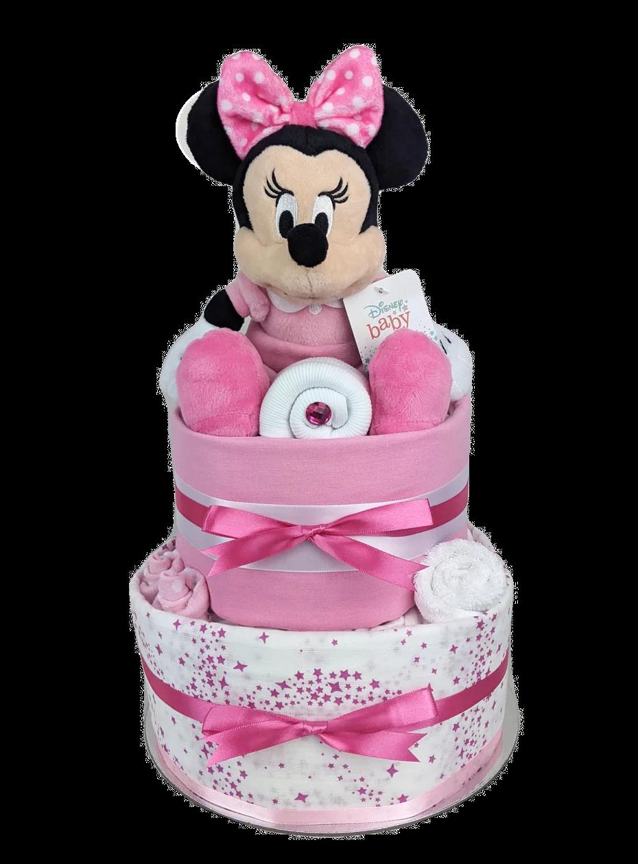 Two Tier Baby Minnie Nappy Cake