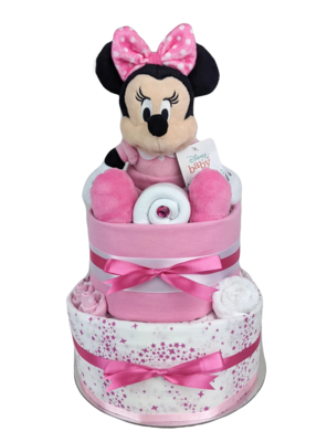 Two Tier Baby Minnie Nappy Cake
