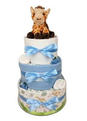 Three Tier Baby Giraffe Jungle Nappy Cake
