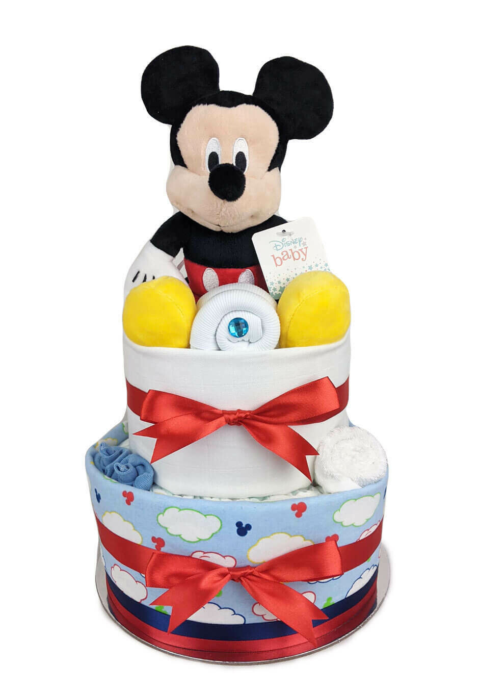 Two Tier Baby Mickey Nappy Cake
