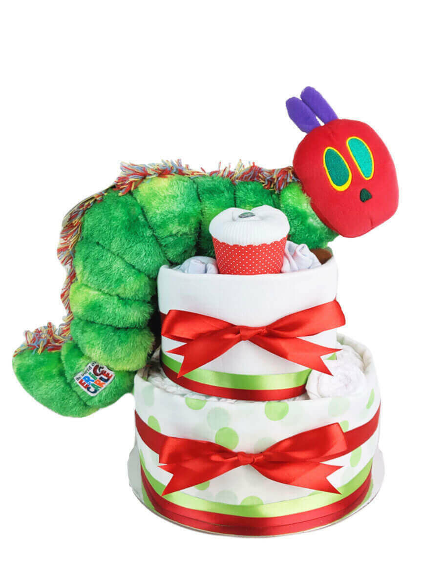 Two Tier Hungry Caterpillar Nappy Cake