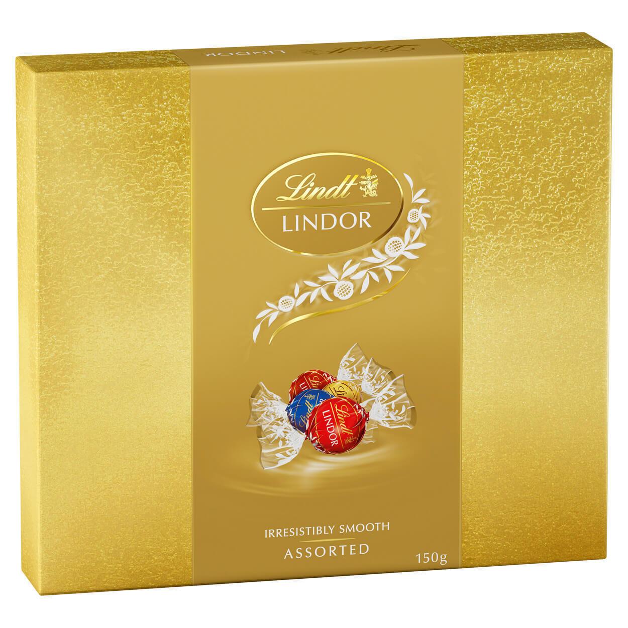 Lindt Lindor Chocolate Balls Assorted 150g Box