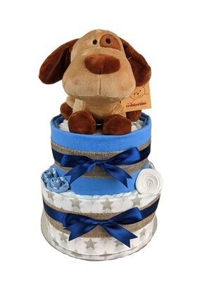 Two Tier Puppy Nappy Cake