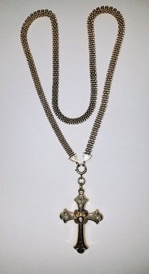 Civil War Era Cross & Chain
