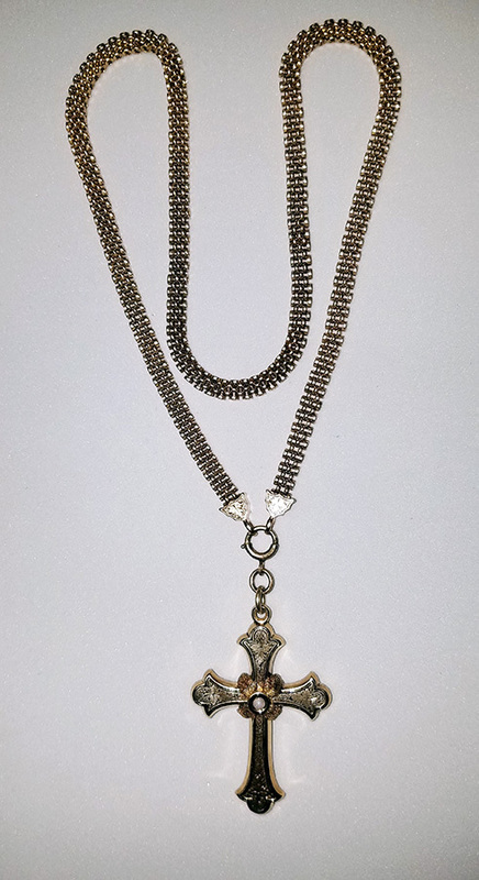 Civil War Era Cross & Chain