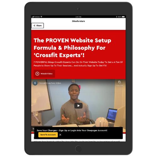 Proven Website formula