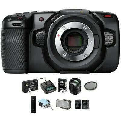 Blackmagic Design Pocket Cinema Camera 4K Kit with 12-35mm Zoom, 512GB SSD, Cage & Mic