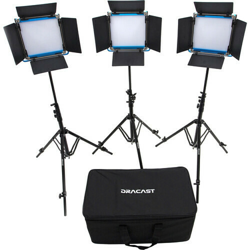 Dracast LED500 S-Series Bi-Color 3-Light Kit with V-Mount Battery Plates and Soft Case