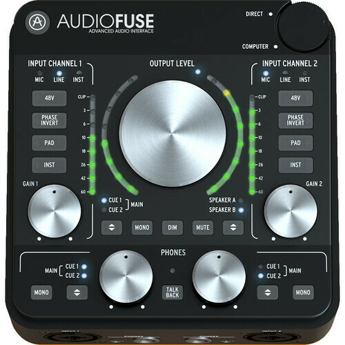 Arturia AudioFuse Rev2 - 14x14 Audio Interface (Black)