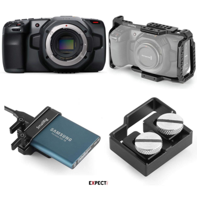 Blackmagic Design Pocket Cinema Camera 4K Kit 1TB SSD, SmallRig Full Cage (Open Box)