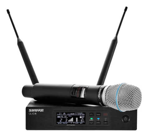 QLXD24/B87A Handheld Wireless Microphone System
