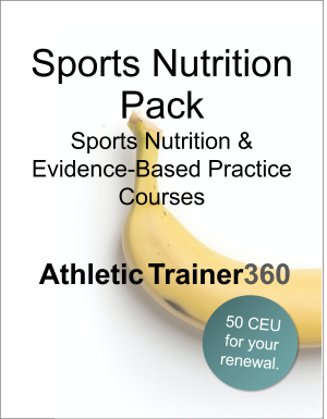 Sports Nutrition Pack | 50 CEU
