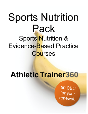 Sports Nutrition Pack | 50 CEU