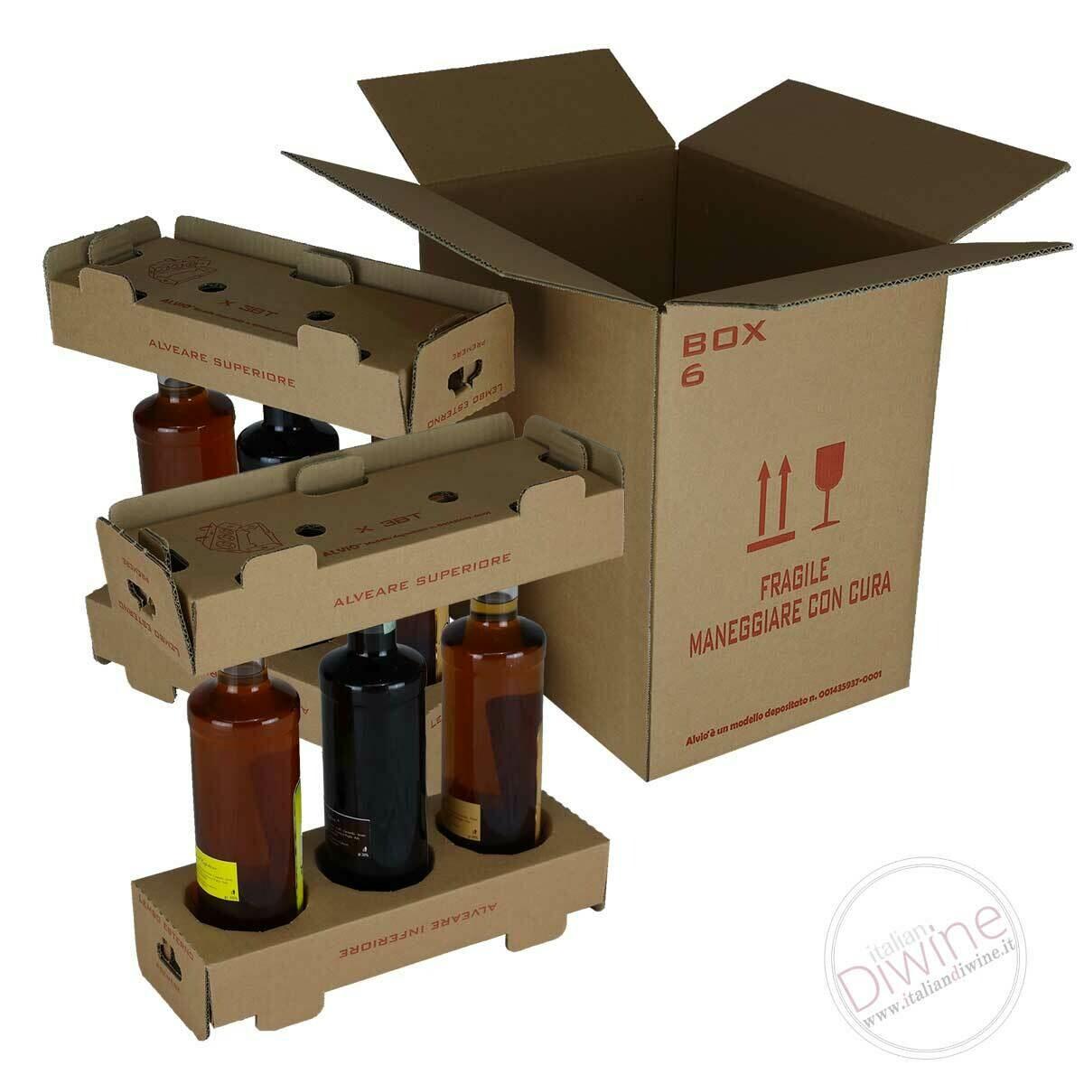 Scatole per Spedizione 6 Bottiglie (kit multipli)