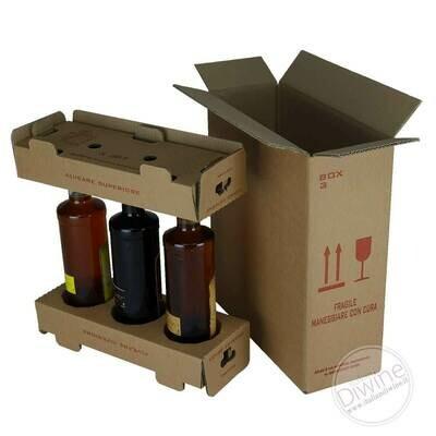 Scatole per Spedizione 3 Bottiglie (kit multipli)