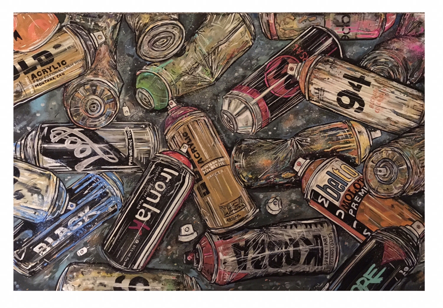 Empty Cans - Limited Edition Giclee Print (A3 Size)