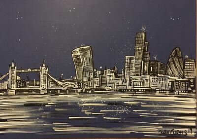London skyline 1 - Original Painting