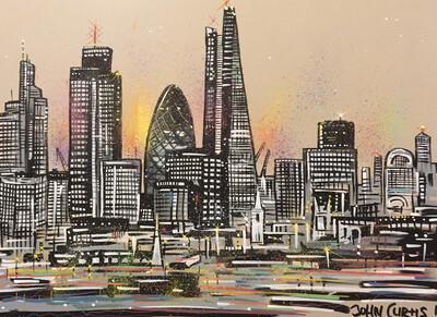 London skyline 3 - (Sunset)- Original Painting